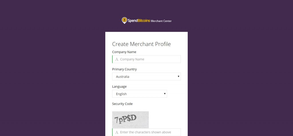 Create a Spend Bitcoins merchant profile